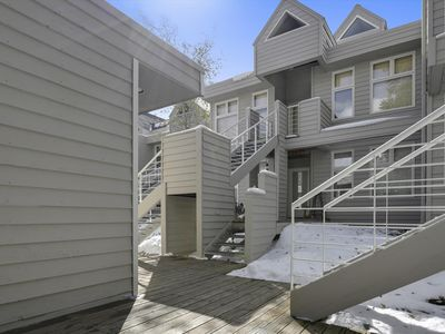 Photo for Come visit Frisco and stay in our lovely two bedroom River Glen condo! Only one block from Main Street!