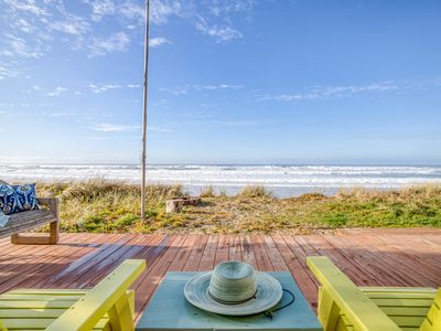 Photo for Panoramic Views, Private Beach Access, in this Sweet, Casual Oceanfront Palace!