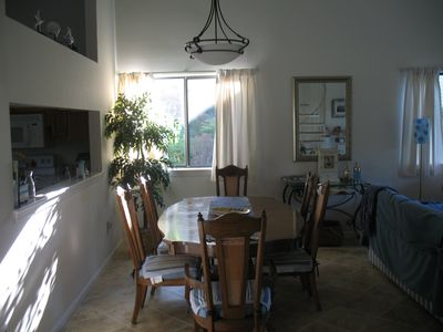 Pass through to Dining area