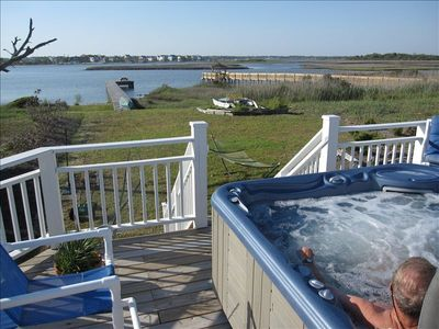 Photo for ALL-INCLUSIVE, NO EXTRA CHARGES, KAYAKS, LINENS, CLEANING, HOT TUB