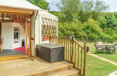 Photo for Ash Yurt is a high quality luxury yurt with large windows, French doors and a beautiful clear dome.
