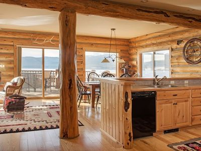 Photo for NEW LISTING! Lakefront cabin with private hot tub and stunning lake views!