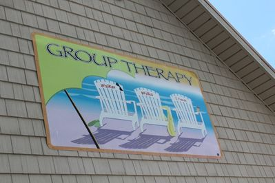 Front of house - Group Therapy Sign