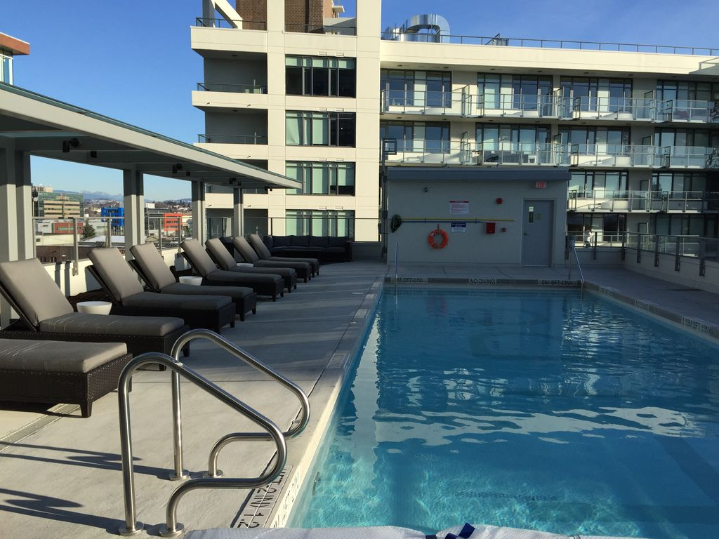 Downtown Olympic Village Brand New 2 Bed/2Baths with Signature Swimming Pool