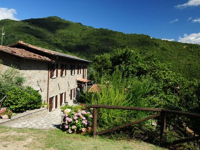 Photo for Cozy house with private pool and breathtaking views of the Garfagnana area