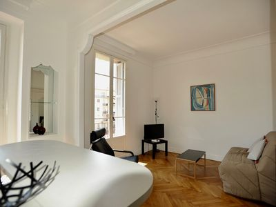 Photo for Fantastic stylish one bedroom with A/C in the heart of Nice