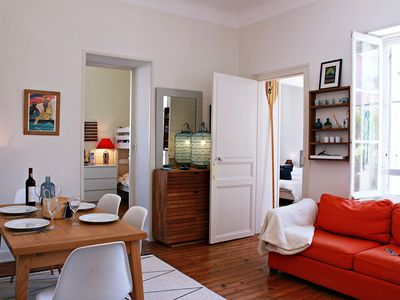 Photo for YOUCCA// TXALUPA Apartment in City-Center 2 Steps from Biarritz Market