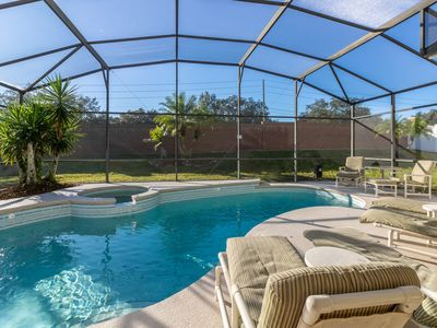 Photo for *Summer Sale* Luxury Living 2 Miles from Disney with Pool/Spa and Game Room
