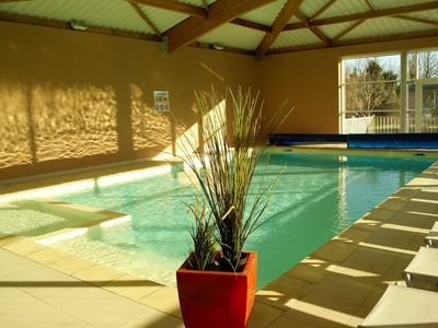 Photo for SMALL HOUSE 4 PERS 100 METERS FROM THE BEACH WITH POOL