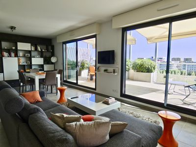 Photo for APARTMENT WITH LARGE TERRACE - PORT MARIANNE