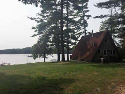 Photo for LOON LOOKOUT--Sleeps 4-6-- Private dock & row boat included! Great fishing!