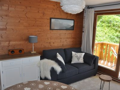Photo for Appartment Peisey Les Arcs 6-8 pers comfort cosy pool sauna 50 meter from piste