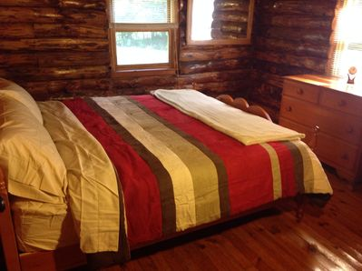 King size bedroom on main level