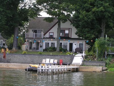 Photo for BEAUTIFUL - Large - 4 Bedroom - LAKEFRONT HOUSE - with 60 ft. DOCK