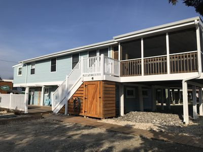 Photo for Steps from beach access, water view, completely remodeled!