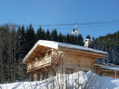 Photo for Chalet on the ski slopes quiet with internet in MEGEVE