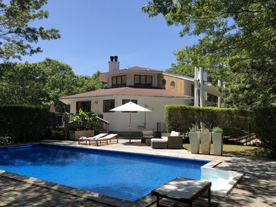Photo for Sunny and Stylish East Hampton Retreat With Heated Pool