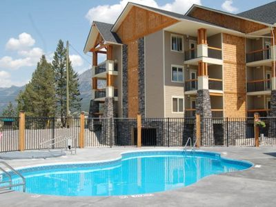 Photo for Radium Mountain Escape - 2 BR Condo with Den - Top Floor Golf on Your Doorstep