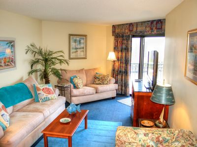 Gorgeous oceanfront resort with indoor and outdoor pools and on site restaurant!
