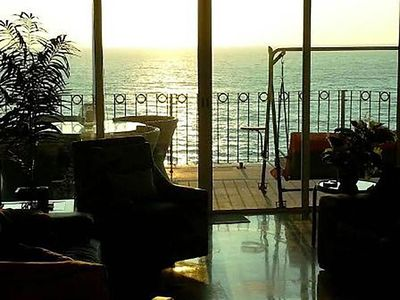 View of Pacific Ocean from living room & balcony.