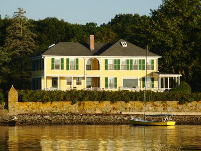 Photo for Ocean front in Cape Porpoise; Pier, Tennis Court, Kayaks, Bikes, Island Views