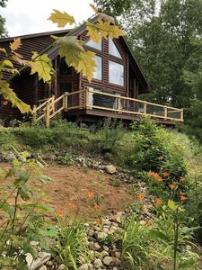 Photo for Golden Dunes Luxury Log Home Overlooking Lake Michigan