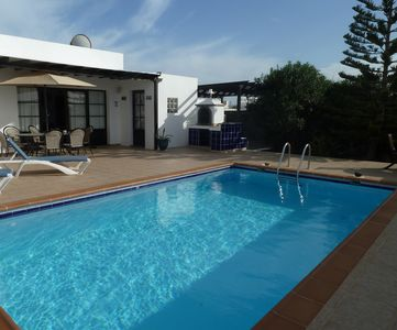 Photo for 3 Bedroom villa, private pool with roman steps, free wi fi and alarmed, sleeps 5