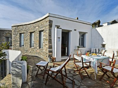 Photo for Tinos: Large traditional house with views of the island and the Exombourgo