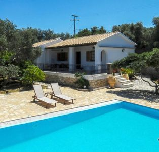 Photo for Attractive Villa with Private Pool, Stunning views over the Ionian Sea, Direct Access to the Sea !