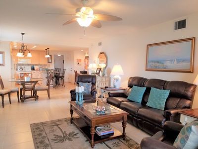 Photo for Buttonwood 915 - 3 Bedroom Condo with Private Beach with lounge chairs & umbrella provided, 2 Poo...