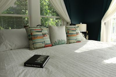 2 - My wife loves loud, colorful throw pillows!
