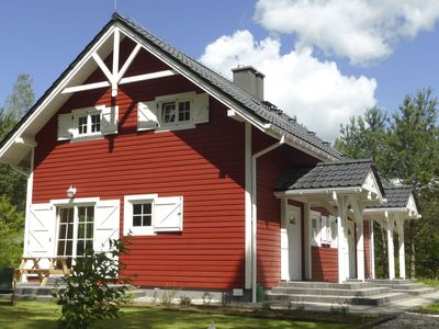 Photo for Semi-detached Scandinavian style house in Masuria, on the edge of Piska Forest