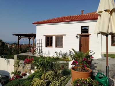 Photo for Holiday home with panoramic views for 5 persons - in the village by the sea - Nikiti / Chalkidiki