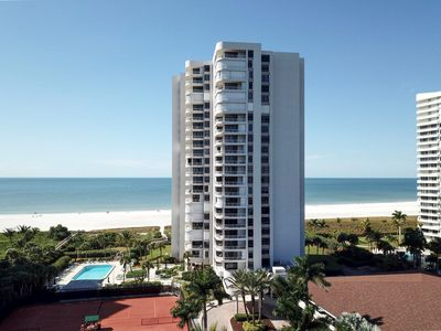 Photo for Front unit at Royal Seafarer condo with wrap around balcony facing South.