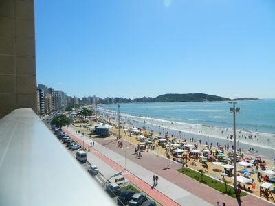 Photo for Apt 2 qt + dep (= 3qts), 2varandas, 5th floor Beach front at Praia do Morr