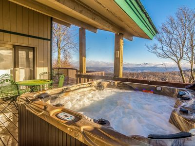 Photo for 3BR/4BA Rustic Mountain Cabin on Beech Mountain, Huge Views, Hot Tub, Arcade Cabinet, Close to Skiing