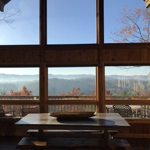 Photo for Cozy + Secluded 180 Degree Mountain View Cabin