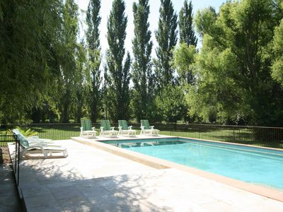 Photo for LUBERON 12KM Lourmarin ,Charming Cottage with private heated pool, Airco