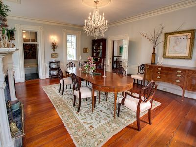 Formal Dining Room with Powder Room