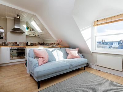 Photo for Smart top floor apt in homely Wandsworth. Only a 5 min walk to the train (Veeve)