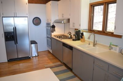 Kitchen - All stainless steel appliances and Corian countertops
