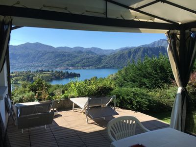 Photo for Detached 2½-room house with a gigantic view of the lake