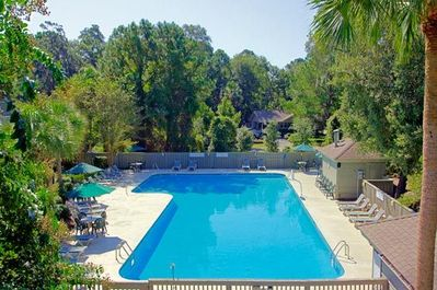 Large, secluded HEATED pool