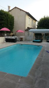 Photo for 16KM CANNES CLIMATED VILLA WITH HEATED SWIMMING POOL HOUSE