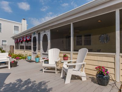 Photo for Newly renovated, Steps to the Beach & Dog Friendly! Sunday Check-In by 1pm.