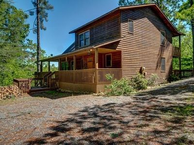 Photo for Mountain View Cabin/ Family Friendly, Hot Tub, Wifi, Large Entertainment Room
