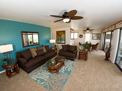 Photo for Peace in Paradise,  2 bedroom, 2 bath condo, golf nearby and ocean view, Keauhou Punahele B208, In Keauhou.