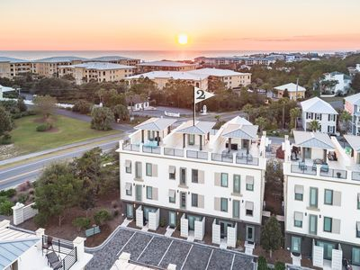 Photo for 30A luxury townhome, pool, with rooftop oceanview! Blue Mountain Beach 4br/4ba