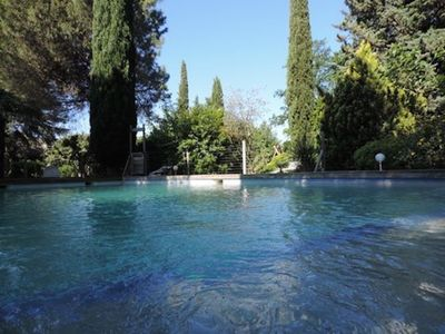 Photo for Independent cottage in superb Provencal area, The Golden Tree, garden and swimming pool