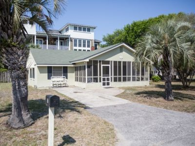 Photo for Affordable & Comfortable Older Beach Home - Less than One Block from the Ocean!! Large Screened Porch!